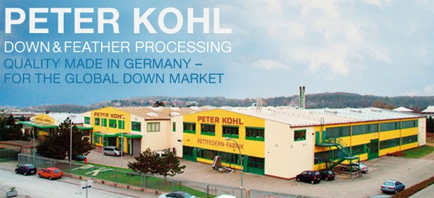 The 20.000 square meter down and feahtersproduction facility, Peter Kohl KG